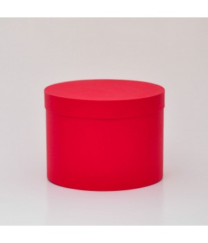 Кругла коробка 20*20 см з кришкою червона (Clariana)