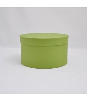 Кругла коробка 22*12,5 см з кришкою зелений колор