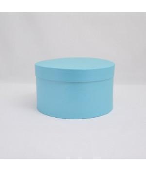 Кругла коробка 20*20 см з кришкою блакитний колор