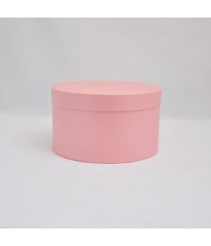 Кругла коробка 20*15 см з кришкою рожева (Woodstok rosa)