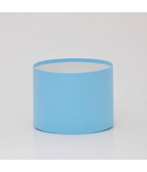 Кругла коробка 20*20 см без кришки блакитний колор