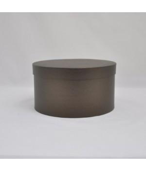 Кругла коробка 20*15 см з кришкою чорна