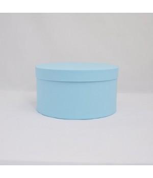 Кругла коробка з кришкою 20*15 см блакитна (Azul Clariana)