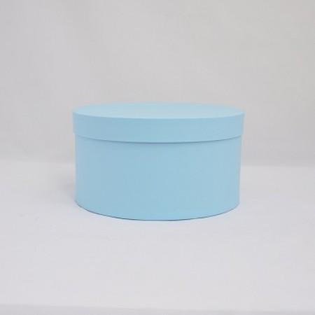 Кругла коробка 20*15 см  з кришкою блакитна (Azul Clariana)