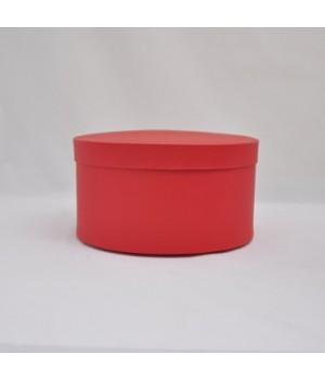 Кругла коробка 20*20 см з кришкою червона