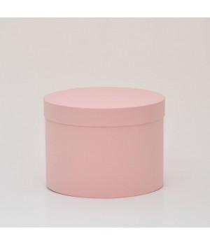Кругла коробка 20*15 см з кришкою  пудра (Woodstok cipria)