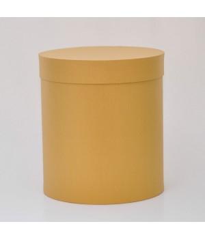 Кругла коробка 15 * 17 см з кришкою жовта (Clariana oro)