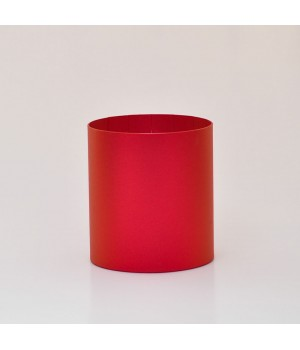 Круглая коробка 15*17 см без крышки красная (creative board ruby)