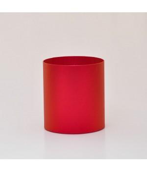 Круглая коробка 15*17 см без крышки марсала блеск