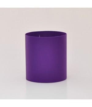 Круглая коробка 15*17 см без крышки темно-фиолетовый матовый