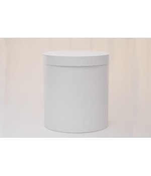 Кругла коробка 15*17 см з кришкою біла (Pergraphica)