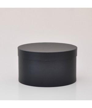 Кругла коробка 20 * 20 см з кришкою чорна матова