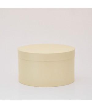 Кругла коробка 20*15 см з кришкою бежева (Clariana кремовая)