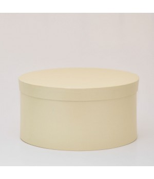 Кругла коробка 35*17 см з кришкою бежева (Dali candido)