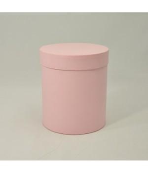 Кругла коробка 15*17 см з кришкою пудра (Woodstuck cipria)