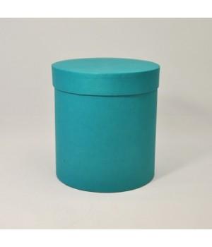 Круглая коробка 15*17 см с крышкой бирюзовый эфалин