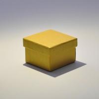 Коробка крышка-дно 5*5*3,5 см золотая