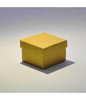 Коробка кришка-дно 5*5*3,5 см золота