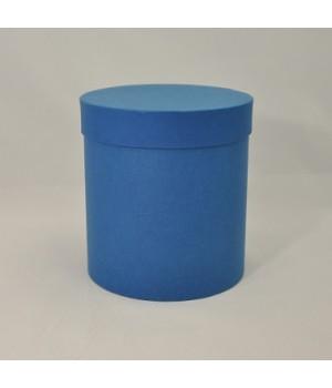 Кругла коробка 22*25 см з кришкою синій (малмеро)