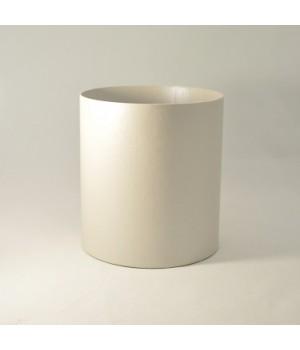 Кругла коробка 15*17 см без кришки біла  матова