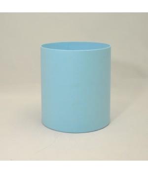Круглая коробка 15*17 см без крышки голубая