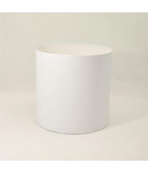 Круглая коробка 20*20 см без крышки белая