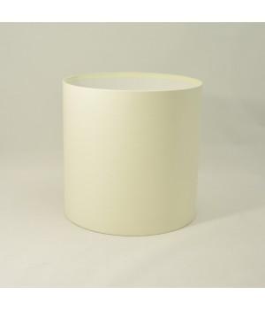 Кругла коробка 11,5*14 см без кришки бежевий льон з блиском
