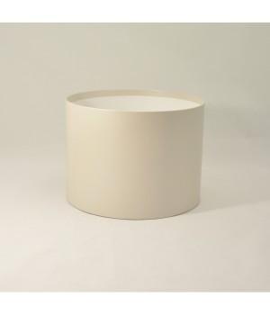 Круглая коробка 20*15 см без крышки бежевый лён с блеском