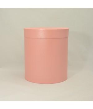 Кругла коробка 15*17 см з кришкою лососевий (Clariana)