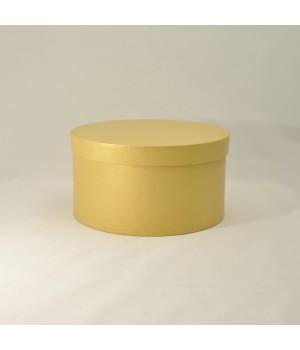 Кругла коробка з кришкою 20*15 см золота (Oro Clariana)