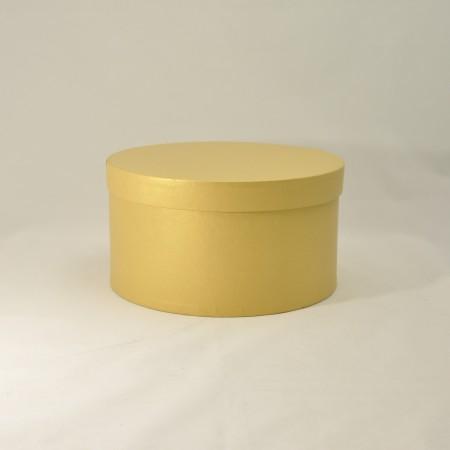 Кругла коробка 20*15 см з кришкою золота (Oro Clariana)