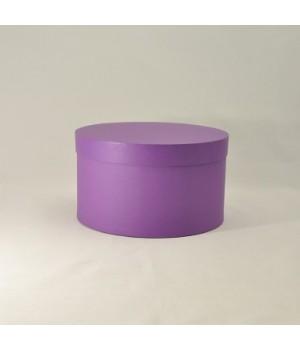 Кругла коробка 20*15 см з кришкою фіолетова (Clariana)