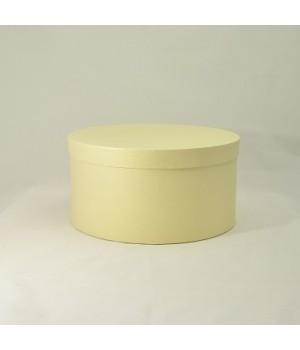 Кругла коробка з кришкою 20*15 см  жовта (amarillo Clariana)