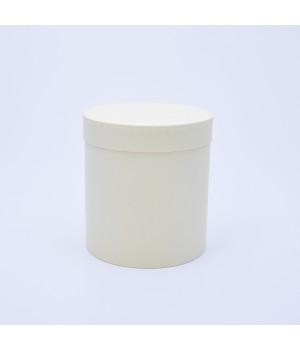 Кругла коробка 15 * 17 см з кришкою кремова (Clariana)