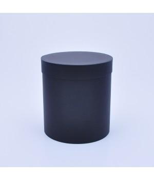 Кругла коробка 15 * 17 см з кришкою чорна