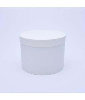 Кругла коробка 20*15 см з кришкою біла (artelibric)