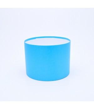 Круглая коробка 20*15 см без крышки голубая с блеском