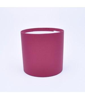 Круглая коробка 20*15 см без крышки бордовая
