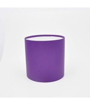 Кругла коробка 20*20 см без кришки фіолетова матова