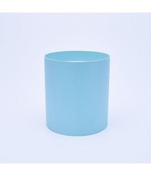 Круглая коробка 15*17 см без крышки мятная