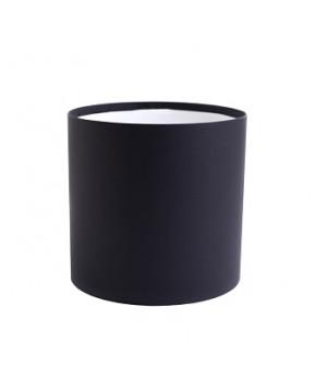 Круглая коробка 15*17 см без крышки черная лен матовый