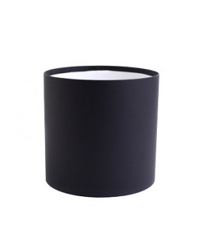 Кругла коробка 20*20 см без кришки чорна гладка матова