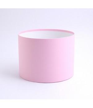 Кругла коробка 20*20 см без кришки рожева (Woodstock rosa)