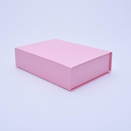 Коробка на магнітах 25*21*6 см рожева