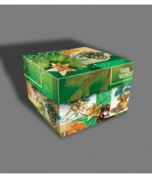 """Новорічна коробка """"Кубик"""" 21-80"""