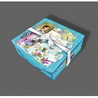 """Праздничная коробка """"Шкатулка голубая"""""""