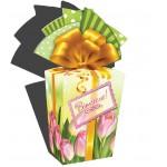 """Святкова коробка """"Тюльпани рожеві"""" 958*2"""