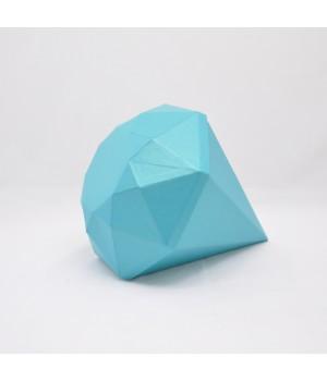 """Коробка """"Діамант"""" 30*30*10 см  блакитна з блиском"""