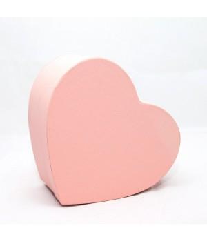 """Коробка в форме """"сердца"""" 25*20*10 см cipria вудстук (персиковая)"""