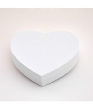"""Коробка в форме """"сердца"""" 25*20*6 см  белая ламинация"""